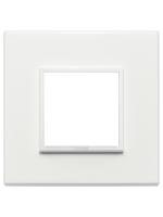 21642.17 eikon evo vimar placca 2 posti colore bianco totale
