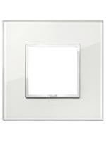 21642.70 eikon evo vimar placca 2 posti colore bianco diamante