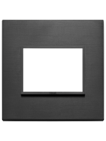 21653.18 eikon vimar placca 3 posti colore nero totale