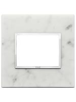 21653.51 eikon evo vimar placca 3 posti colore bianco di carrara