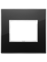 21653.76 eikon evo vimar placca 3 posti colore nero diamante