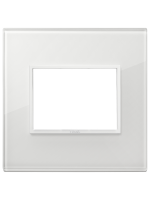 21653.87 eikon evo vimar placca 3 posti colore bianco totale diamante