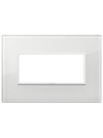 21654.87 eikon evo vimar placca 4 posti colore bianco totale diamante