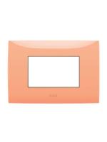 Abb chiara 2csk0312ch placca 3 moduli colore arancione pastello