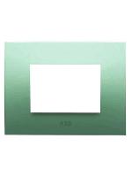 Abb chiara 2csk0313ch placca 3 moduli colore verde pastello