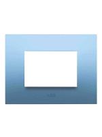 Abb chiara 2csk0314ch placca 3 moduli colore azzurro pastello