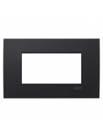 2CSY0400QEP placca etik square 4 moduli nero abb mylos