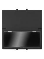 2CSY1031MS pulsante portanome no 16a na 2 moduli nera abb mylos