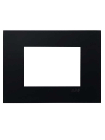 2CSY0300QEP placca etik square 3 moduli nero abb mylos