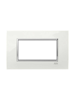 2CSY230445R0401 placca abb square lucent bianca 4 moduli