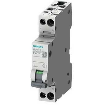 5SL30257 interruttore magnetotermico siemens 25a 1p+n 4,5ka curva c 1 modulo