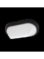 Lampo e2004/bi plafoniera ovale da parete o soffitto