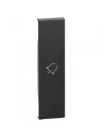 KG01D cover living now con simbolo campanello 1m nera bticino