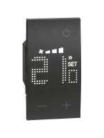 KG4691 termostato living now nero bticino
