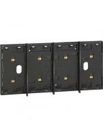 KG8104 frame elettrificato living now 4 moduli nero bticino