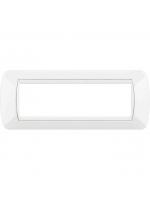 L4807BI placca bianca 7 moduli living international bticino
