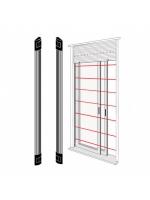 Bentel bar100n barriera a infrarosso per porte e finestre 1 metro