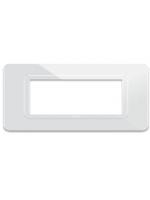 44py04bt ave placche ecnopolimero 44 per scatola rettangolare 4 moduli, colore bianco ral 9010