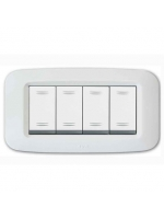 45py04bp ave placca yes tecnopolimero lucida 4 moduli blanc