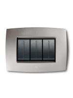 Abb elos 2cse0402smp placca smart tecn. 4 moduli  colore grigio argento