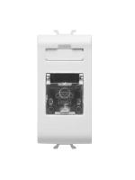 gw10401 gewiss connettore telefonico rj11 1 modulo bianco