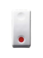 GW20523 Pulsante Gewiss system P NC - 10 A - Aus NA simbolo rosso