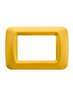GW22583 Placca top Gewiss system giallo mais 3 posti