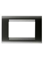 GW32003 Placca Gewiss Playbus 3 posti Ardesia metallizzata