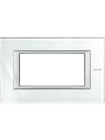 HA4804VSW axolute bticino placche vetro bianco 4 posti